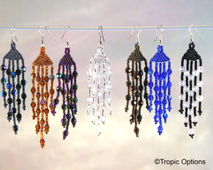18 Crystal Earrings - Long - Assorted