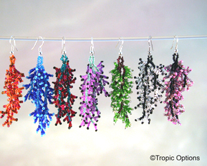 Coral Earrings - Wide - Assorted